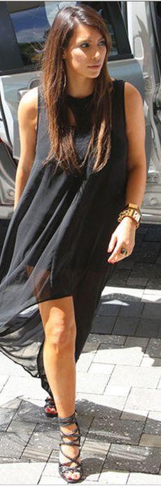 Who made Kim Kardashian's black sandals and jewelry? Bracelet – Hermes Shoes – Tom Ford