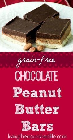 Grain-Free Chocolate Peanut Butter Bars