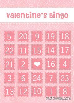 Valentine's Bingo Cards - Free Printable (incl blank cards) via @Makoodle