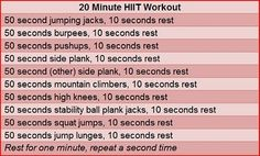 HIIT At-Home Workout