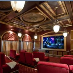 Million dollar movie theatre room Wired by Design can create this for you! http://www.wiredbydesignwpg.com/