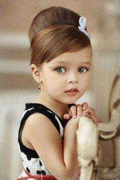 little girls, little princess, kids fashion, flower girl hair, audrey hepburn, girl hairstyles, beauti, flowers, flower girls