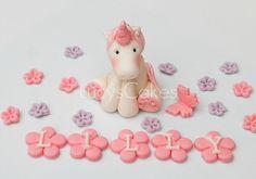 Unicorn pony horse cake topper
