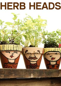 Herb heads!!!! Kids will enjoy creating them while moms will enjoy using them.