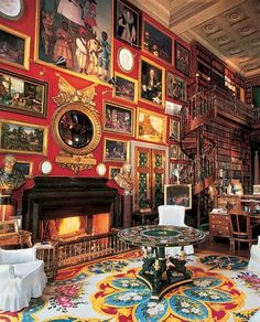 Library at Chateau de Groussay