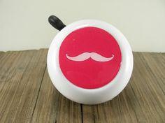 Hot Pink Mustache Bike Bell $16