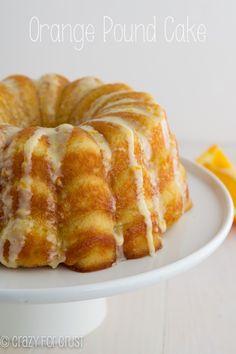 Orange Pound Cake | crazyforcrust.com | A pound cake made with greek yogurt and oranges for a zesty citrus flavor!