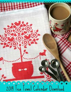 Free 2014 Tea Towel Calendar Printable & Tutorial from DollarStoreCrafts.com
