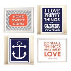 Preppy Dorm Room colleg apart, coral navy dorm, nautic collect, preppi dorm, green nautic, dorm coral, dorm rooms, dorm idea, anchor