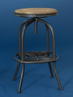 This rugged riser with a rough-hewn seat is a replica of a 1900s drafting stool. About $150 from ballarddesigns.com | Photo: Lisa Shin | thisoldhouse.com 1900 house, old houses, bar stools
