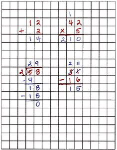 Print your own GRAPH paper - lots of sizes. STRATEGY:Using graph paper helps keep numbers in line while working MATH problems.