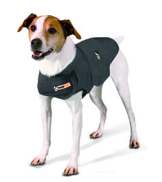 Thundershirt™ Anxiety Treatment Shirts provide a drug-free solution for fear of thunder, fireworks, separation anxiety, travel, barking and more.