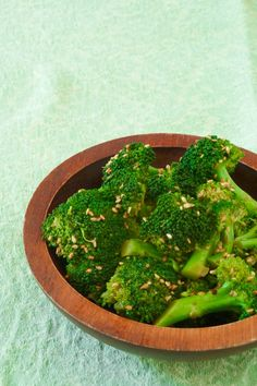 Thai style Sesame Broccoli- oh my goodness this broccoli is amazing- tried same recipe but with brussel sprouts- yes please! :)