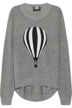 Markus Lupfer Air balloon-intarsia merino wool sweater @Moore Adm Seal