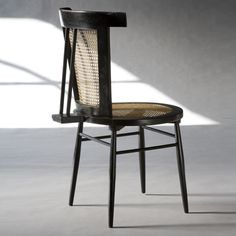 Joaquim Tenreiro, Lacquered Wood and Cane 'Small' Chair, 1960.