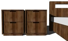 """Modern Nightstand: These were a """"drool"""" item from West Elm until I discovered Knock-offwood.com!"""
