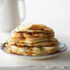 With a little planning you can make weekend breakfasts extra special with Banana Cream Pancakes.  Banana pancakes are layered between creamy mascarpone cheese for a truly decadent breakfast.
