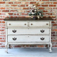 furniture project with two-tone paint finish petticoat junktion painted furniture