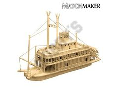 This Matchmaker Riverboat includes everything needed to make this matchstick model kit.  Included are all the pre-cut card formers along with the glue, matchticks and full instructions. These instructions will guide you through each stage of the construction until you finally achieve the finished product.  We would highly recommend this Matchmaker Riverboat.    Approx size of finished model: 380mm long, 225mm high.