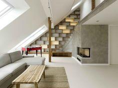 Rounded Loft.  A1 Architects. architect, interior design, stair, design homes, lofts, attic spaces, design interiors, czech republic, loft design