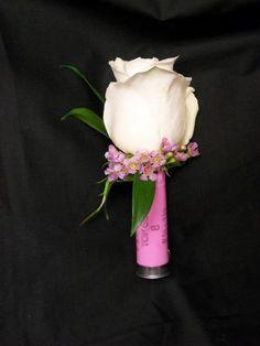 @ Brittany for Jimmy  hahahahaha ;) Pink shotgun shell boutonniere