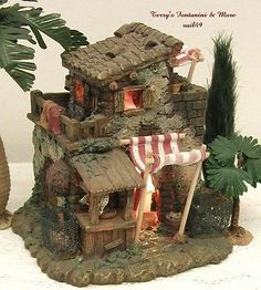 "FONTANINI ITALY 2.5"" EARLY POULTRY SHOP NATIVITY VILLAGE BUILDING 50236 MIB"