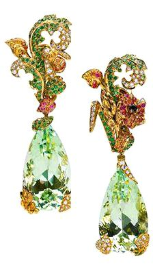 Dior Joaillerie jewelry earrings green gold drop