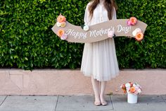 DIY Flower Banner and Bouquet for Mothers Day