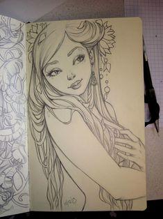 art illustrations, pencil doodles, drawing inspiration, deviantart drawings, moleskine