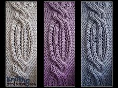 Swirling Cable     knittingstitchpatterns.com