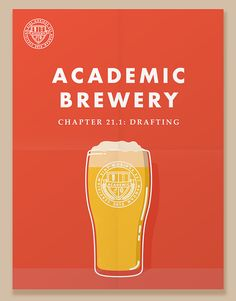 Academic Brewery Poster graphic design, beer poster