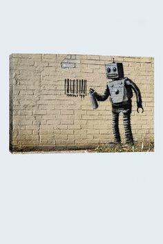Banksy - Tagging Robot