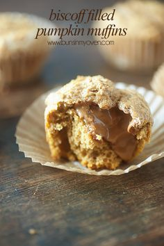 Pumpkin Muffins with Biscoff Filling