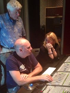 Editing decisions post production at Subcat Studios on album All the Way Home http:/www.angelampresents.com