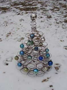 Bed spring Christmas tree. Love it!
