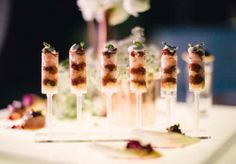 Delicious appetizers from Abbey Road Catering. Styled shoot by Gibson Events. Photo by Josh McCullock Photography. #wedding #food #catering