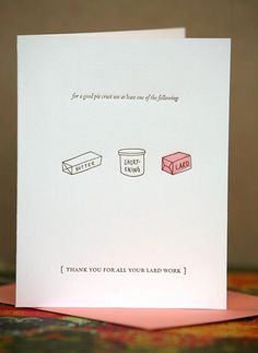 a great card from letterform