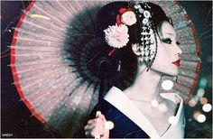 a Geisha's hair
