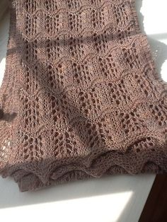 Free Pattern: Pacific waves scarf by Lidia Tsymbal