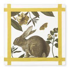 Bunny Botanical Print Napkins, Set of 4 | Williams-Sonoma