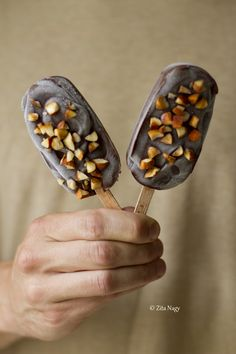 6 pp Vegan Chocolate Popsicles with Roasted Almonds. #food #popsicles #summer Figures in WW as 6 pp