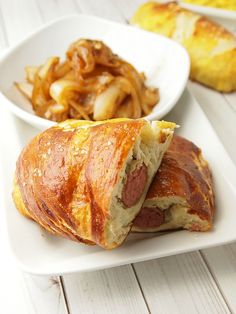 Pretzel Wrapped Brat