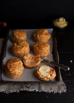 Sundried tomato and Parmesan cheese scones | Drizzle and Dip