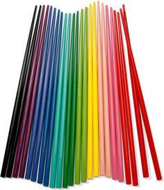 Rainbow chop sticks...LOVE THEM IN COLORS like I do my eyeshadows. I like to stay slender with chopsticks TOO!  He! He!