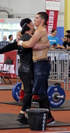 Michael Tancini and Drew Anderson after workout #2