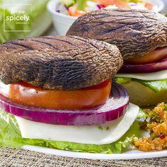 Grilled Portobello Mushroom Burgers – Spicely Organics