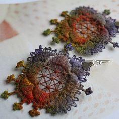 Vintage Lace Earrings  Boucles d'oreilles ♥