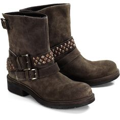 Vic Matie Labrador Studded Boots ($410) ❤ liked on Polyvore