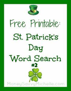 holiday, printabl word, idea, craft, search free, word search, stpatricksday, st patrick, free printabl