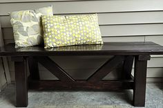 Must make for front porch or deck out back - cost ~$10 (Easy... uses 2x4s.)